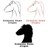 3 характера в форме лошади Стоковое Изображение RF