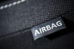 Характеристика безопасности воздушной подушки автомобиля Стоковые Фото