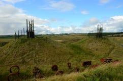 Характеристики вершины холма - регенерация бывшего Opencast места стоковая фотография rf