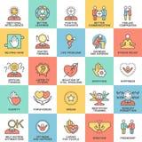 Характеристики значков психологические человеческой личности Стоковые Фотографии RF