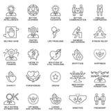Характеристики значков психологические человеческой личности Стоковая Фотография