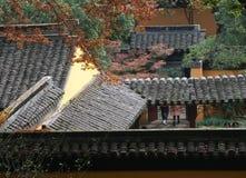 Характеристики сада Сучжоу, круглые квадратные окна стоковые изображения