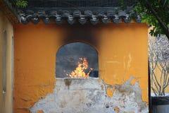 Характеристики сада Сучжоу, круглые квадратные окна стоковое изображение
