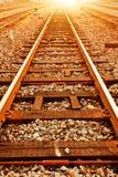 Характеристики следа поезда Стоковые Изображения RF