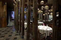 Характеристики типа South Asia восстанавовили ресторан стоковые фото
