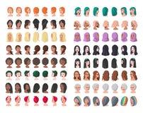 16 характеров от различных субкультур и социальных слоев иллюстрация штока
