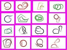 16 характеров покрашенных в стиле ручки Стоковые Изображения RF