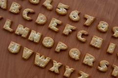Характеры алфавита шутихи Стоковое фото RF