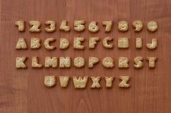 Характеры алфавита шутихи Стоковые Фото