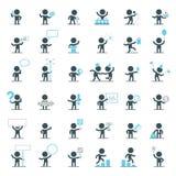Характеры вектора в различных ситуациях Стоковые Фотографии RF
