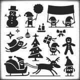 Характеры рождества Стоковые Изображения