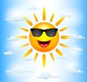 Характеры Солнця шаржа Стоковое Изображение