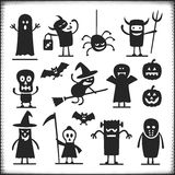 Характеры хеллоуина Стоковое Фото