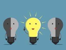 Характеры электрической лампочки Стоковая Фотография