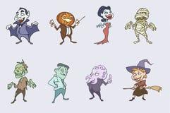 характеры halloween пугающий Стоковые Фото