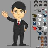 Характер бизнесмена ориентированный на заказчика Стоковое фото RF