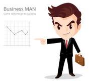 Характер бизнесмена Стоковые Фото