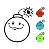 Характер бомбы шаржа иллюстрация штока