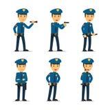 Характер вектора полицейского Стоковое Изображение