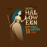 Характер ведьмы хеллоуина Стоковые Фото