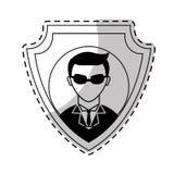 характер воплощения хакера Стоковое Фото