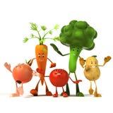 Характер еды - овощи иллюстрация штока
