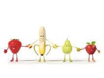 Характер еды - плодоовощи бесплатная иллюстрация