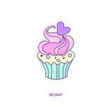 Характер 01 значка пирожного Бесплатная Иллюстрация