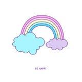 Характер 01 значка радуги Бесплатная Иллюстрация
