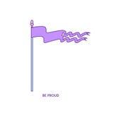 Характер 01 значка флага Бесплатная Иллюстрация