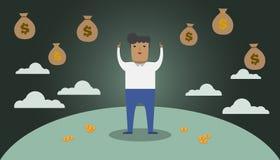 характер иллюстрации денег мечт Стоковые Изображения RF