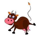 Характер иллюстрации коровы Стоковое Изображение