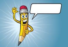 Характер карандаша шаржа Стоковая Фотография RF