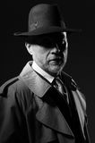 характер кино 1950s noir Стоковое фото RF