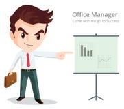 Характер менеджера офиса Стоковое Изображение RF