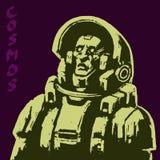 Характер научной фантастики астронавта также вектор иллюстрации притяжки corel Стоковая Фотография RF