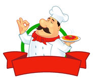 Характер логотипа шеф-повара Стоковое Изображение