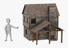 Характер показывая средневековый blacksmith Стоковые Изображения RF