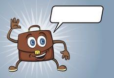 Характер портфеля шаржа усмехаясь Стоковое Фото