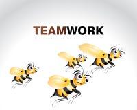 характер пчелы счастливый иллюстрация вектора