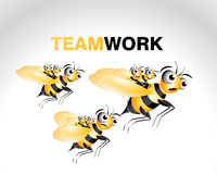 характер пчелы Стоковое Изображение