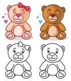 Характер плюшевого медвежонка Стоковые Изображения RF