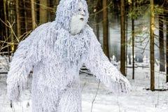 Характер сказки йети в фото фантазии леса зимы внешнем Стоковое Фото