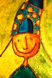 характер счастливый Стоковые Изображения RF