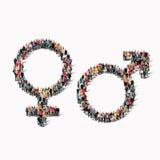 Характер формы людей группы мужской женский Стоковые Изображения RF