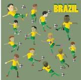 Характер футбола Бразилии Стоковые Фото