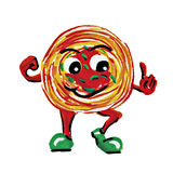 Характер человека спагетти картины стоковая фотография rf