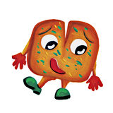 Характер человека хлеба чеснока картины стоковое фото rf