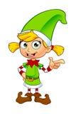 Характер эльфа девушки в зеленом цвете Стоковое Фото