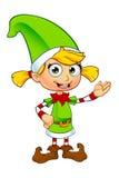 Характер эльфа девушки в зеленом цвете Стоковая Фотография